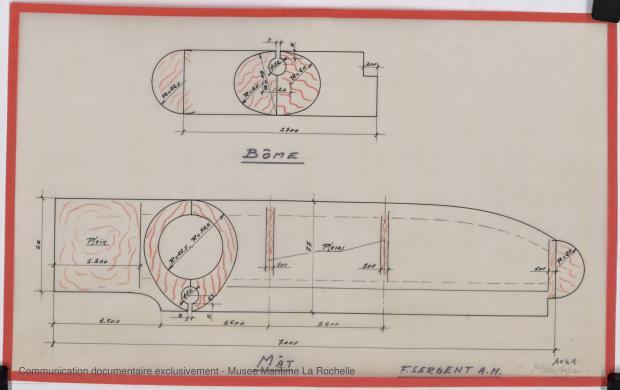 PLAN DE VOILURE/GREEMENT - Moustyc, dériveur 4,50 m (1966)