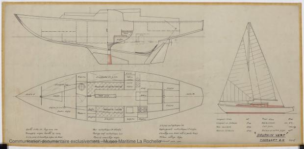 PLAN GENERAL - Dauphin vert  10,00 m (1966)