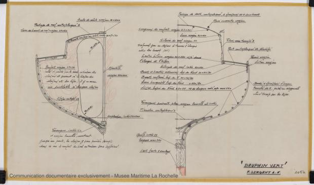 PLAN DE CONSTRUCTION - Dauphin vert  10,00 m (1966)