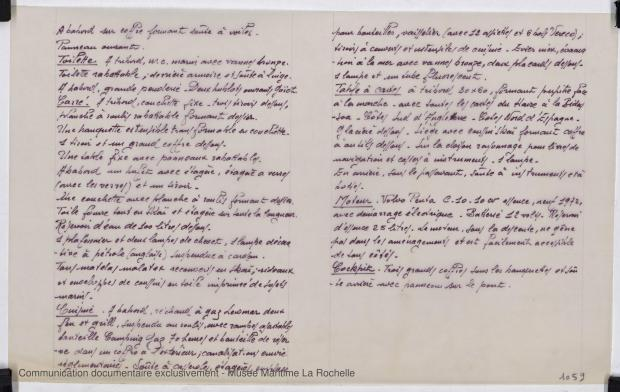 PLAN D'AMENAGEMENT  - Dauphin vert  10,00 m (1966)