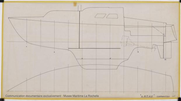 PLAN DE CONSTRUCTION - Lotus  7,50 m  (1966)