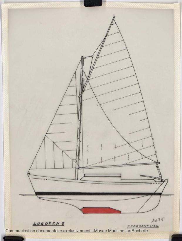 PLAN DE VOILURE/GREEMENT - Logoden VI  sloop de 6 m (1967)