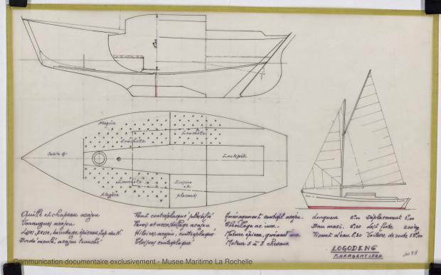 PLAN GENERAL - Logoden VI  sloop de 6 m (1967)