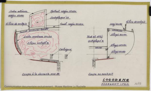 PLAN DE CONSTRUCTION - Logoden VI  sloop de 6 m (1967)