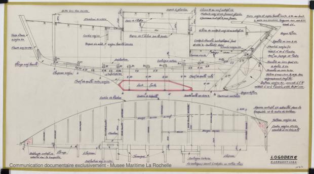 PLAN DE CONSTRUCTION - Logoden VI  sloop de 6 m (1967)