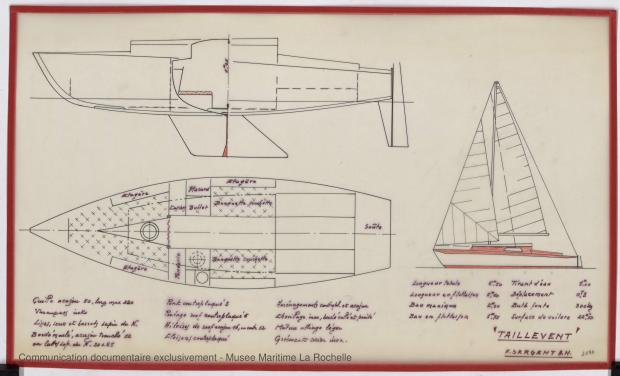 PLAN GENERAL - Taillevent  Sloop 6,50 m (1967)