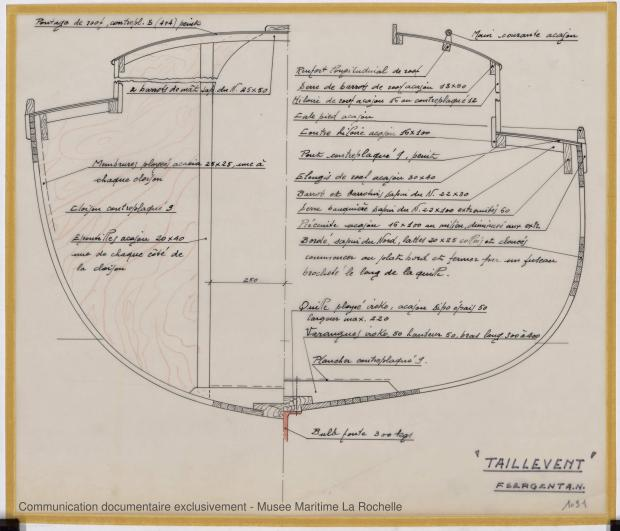 PLAN DE CONSTRUCTION - Taillevent  Sloop 6,50 m (1967)