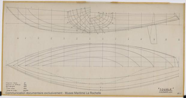 PLAN DE COQUE - Shark (minishark) & Squale  9 m (1967)