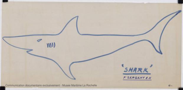 ETIQUETTE - Shark (minishark) & Squale  9 m (1967)