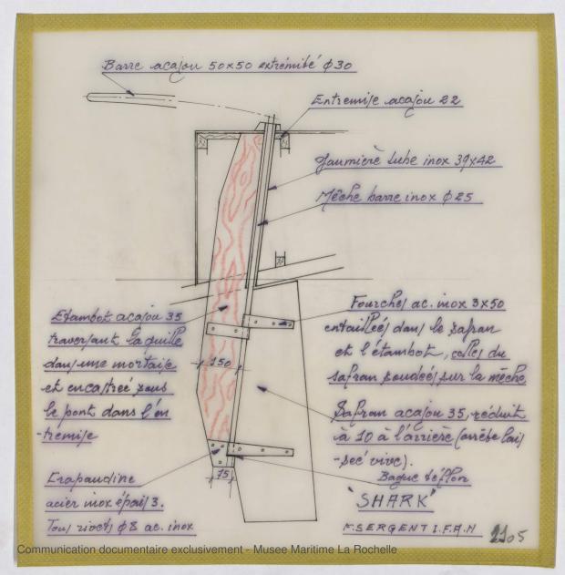 PLAN D'APPAREIL A GOUVERNER - Shark (minishark) & Squale  9 m (1967)