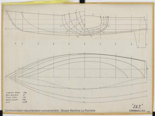 PLAN DE COQUE - Jet  5,90 m (1968)