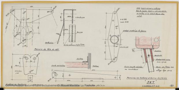 PLAN DE VOILURE/GREEMENT - Jet  5,90 m (1968)
