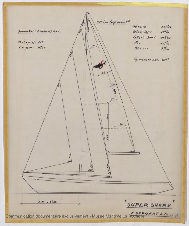 PLAN DE VOILURE/GREEMENT - Super shark & Squalo (1968)