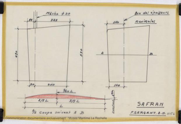 PLAN D'APPAREIL A GOUVERNER - Vedette 8,50m, 10m, 15 m (1968)