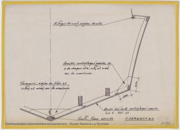 PLAN DE CONSTRUCTION - Vedette 8,50m, 10m, 15 m (1968)
