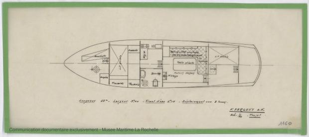PLAN D'AMENAGEMENT  - Vedette 8,50m, 10m, 15 m (1968)