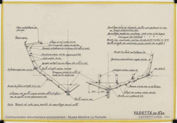 PLAN DE CONSTRUCTION - Fisherman 9,50 Vedette (1969)
