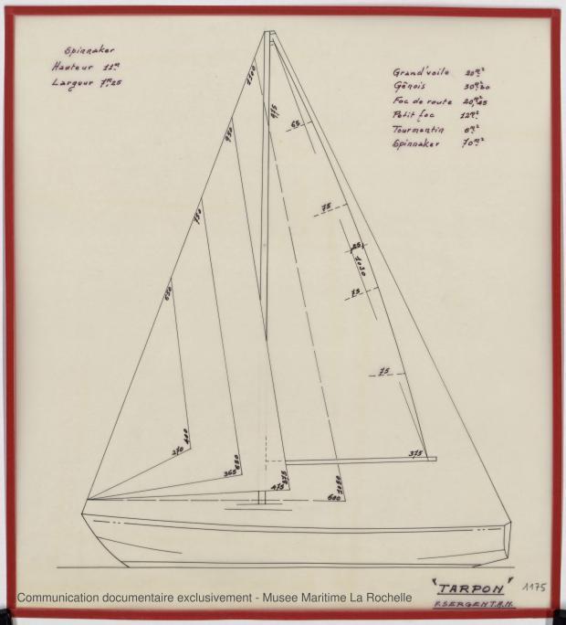 PLAN DE VOILURE/GREEMENT - Tarpon (1969)