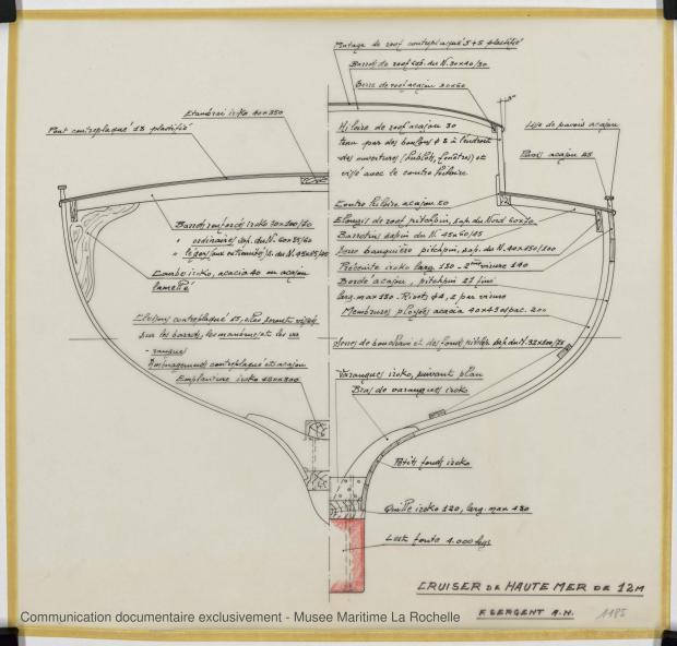 PLAN DE CONSTRUCTION - Cruiser Haute mer 12 m (1969)