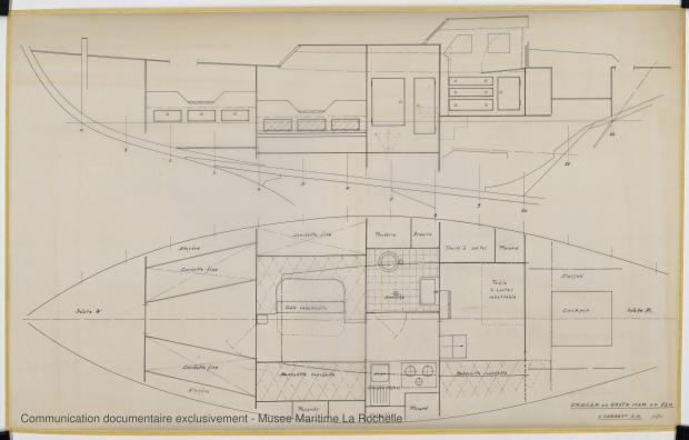 PLAN D'AMENAGEMENT - Cruiser Haute mer 12 m (1969)