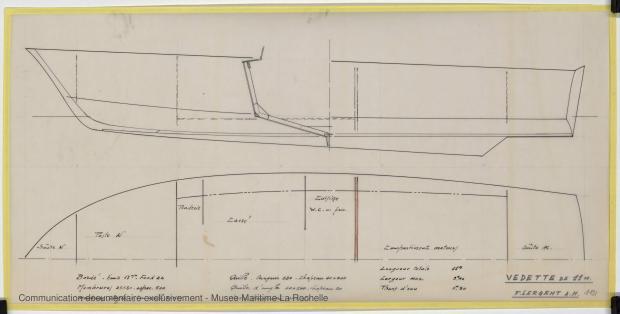 PLAN DE CONSTRUCTION - Vedette 11m (1969)