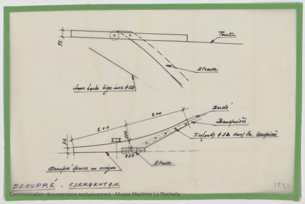 PLAN DE CONSTRUCTION - Jean de la lune, Goelette 12,50 m (1970)