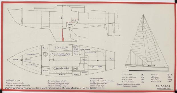 PLAN D'AMENAGEMENT  - Clipper II 9 m (1970)