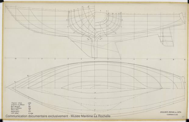 PLAN DE COQUE - Agami II Cruiser rapide 10,65 m (1970)