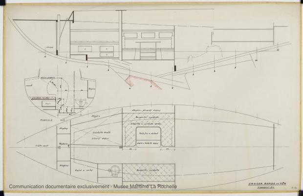 PLAN D'AMENAGEMENT  - Agami II Cruiser rapide 10,65 m (1970)
