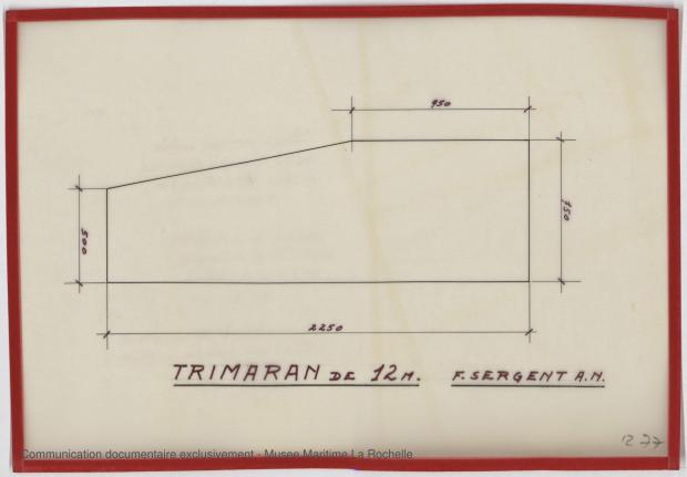 PLAN DE CONSTRUCTION - Puka-Puka Trimaran 12 m (1971)