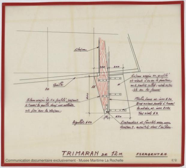 APPAREIL A GOUVERNER - Puka-Puka Trimaran 12 m (1971)