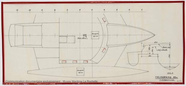 PLAN DE COQUE - Puka-Puka Trimaran 12 m (1971)
