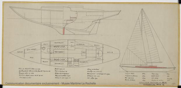 PLAN GENERAL - Cristabel III Cruiser rapide 12,50 M (1971)