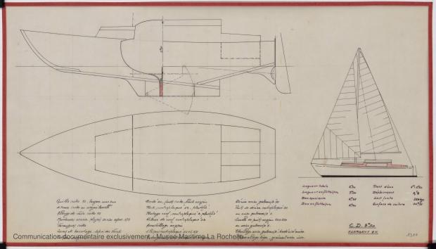 PLAN GENERAL - Croiser 8,50 m (1972)