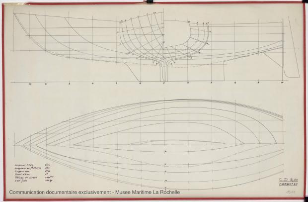 PLAN DE COQUE - Croiser 8,50 m (1972)