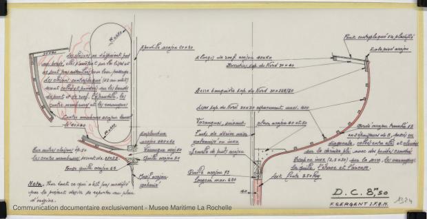 PLAN DE CONSTRUCTION - Croiser 8,50 m (1972)