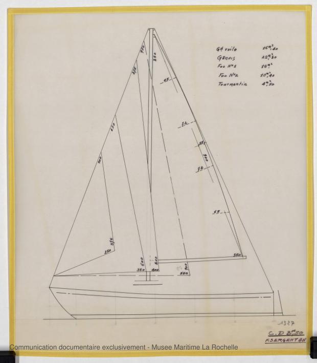 PLAN DE VOILURE/GREEMENT - Croiser 8,50 m (1972)