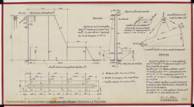 PLAN DE DERIVE/QUILLE - Croiser 8,50 m (1972)