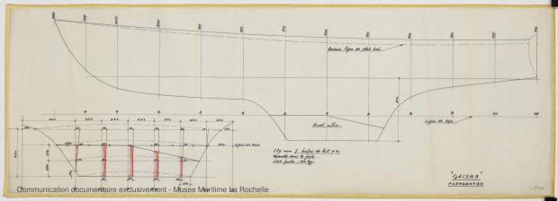 PLAN DE DERIVE/QUILLE - Geisha 5,75 m (1972)