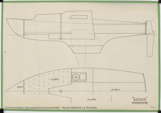 PLAN D'AMENAGEMENT  - Geisha 5,75 m (1972)