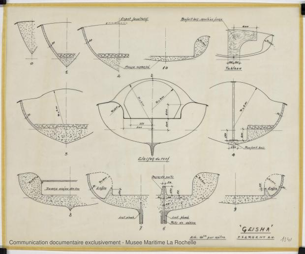 PLAN DE CONSTRUCTION - Geisha 5,75 m (1972)