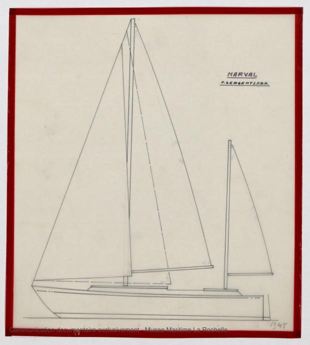 PLAN GENERAL - Narval 11,75 M (1972)