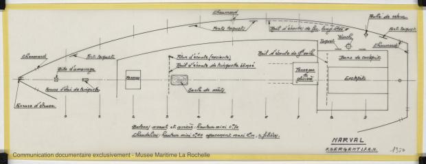 PLAN DE PONT - Narval 11,75 M (1972)