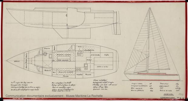 PLAN D'AMENAGEMENT  - Narval 11,75 M (1972)