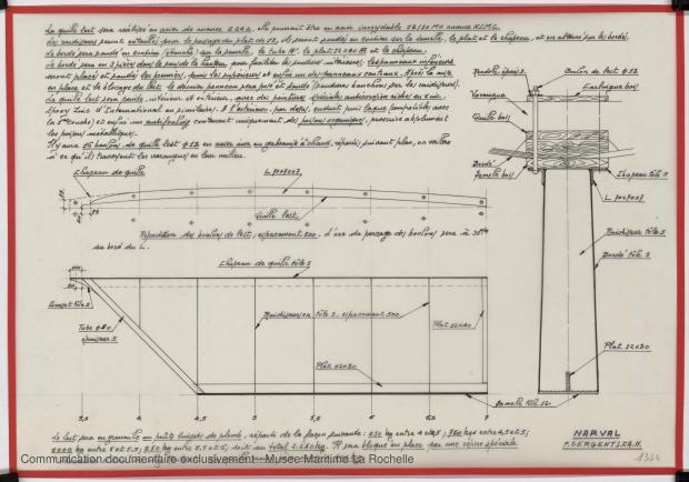 PLAN DE DERIVE/QUILLE - Narval 11,75 M (1972)