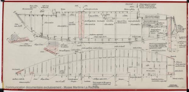 PLAN DE CONSTRUCTION - Narval 11,75 M (1972)