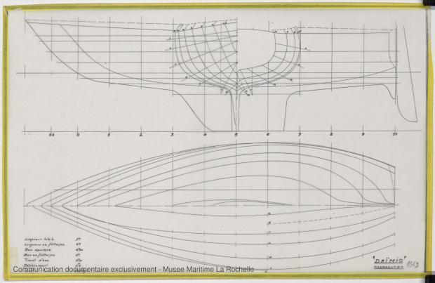 PLAN DE COQUE - Daïmio 7 m (1972)