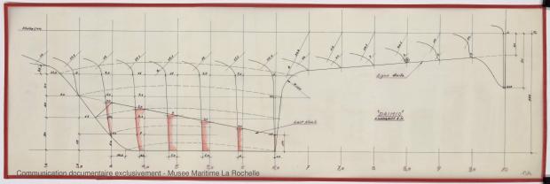 PLAN DE DERIVE/QUILLE - Daïmio 7 m (1972)