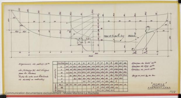 PLAN DE COQUE - Morse, Cruiser 10,20 m (1973)