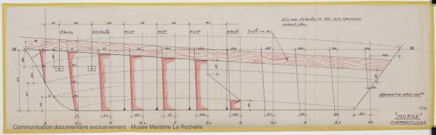 PLAN DE DERIVE/QUILLE - Morse, Cruiser 10,20 m (1973)